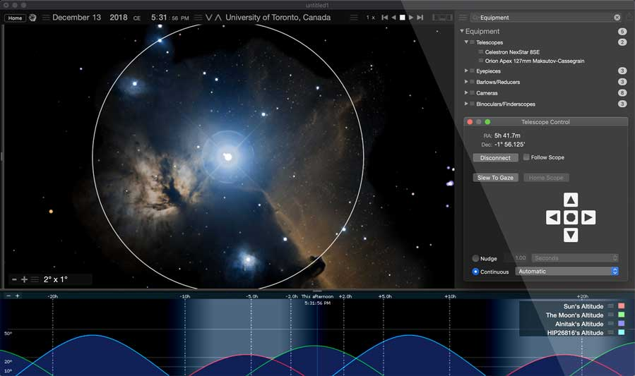 Starry Night 8 | Astronomy Telescope Control Software for Mac/PC